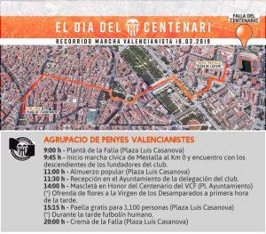Marcha valencianista para el día del centenario del VCF (18-03-2019) 1