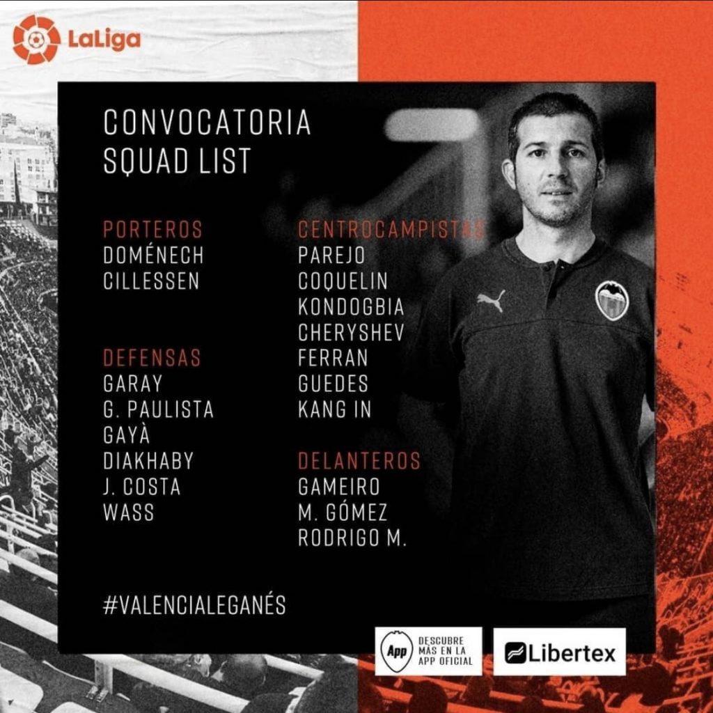 Convocatoria de Celades para jugar contra el Leganés 2