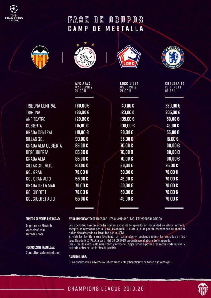 A la venta las entradas para la fase de grupos de la Champions 1
