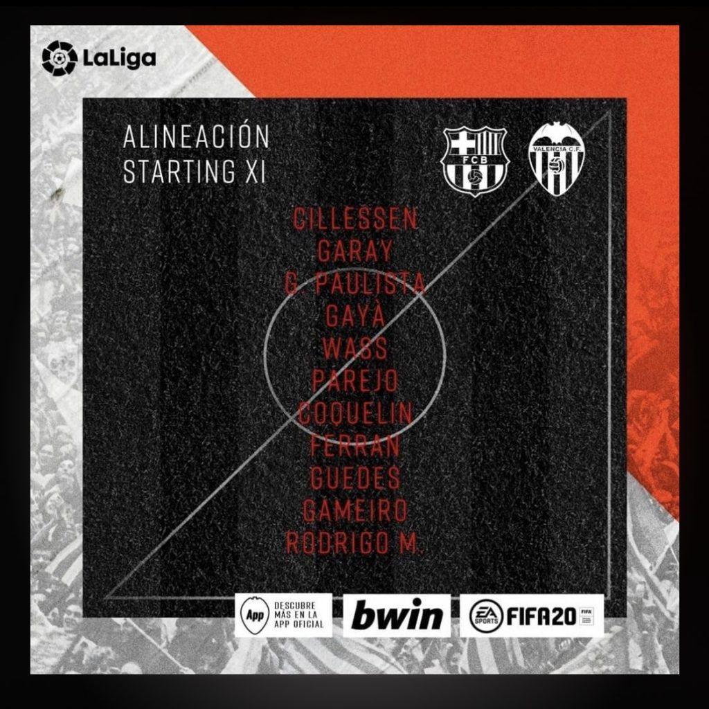 Sin sorpresas en el primer once de Celades con el Valencia CF 1