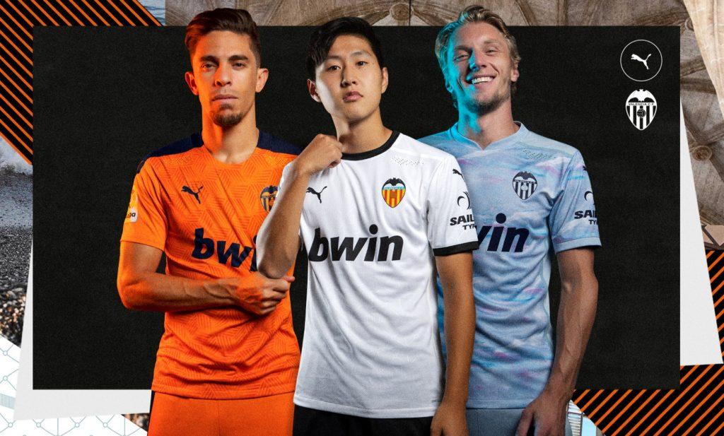 Kangin, Paulista y Wass camisetas VCF temporada 2020-21
